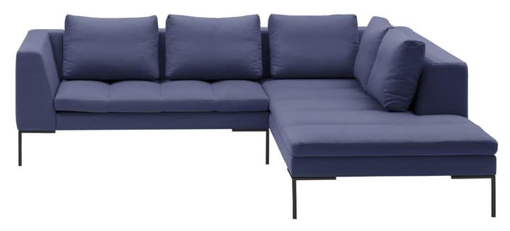 BADER Canapé d'angle 405686450440 Dimensions L: 255.0 cm x P: 230.0 cm x H: 80.0 cm Couleur Bleu Photo no. 1