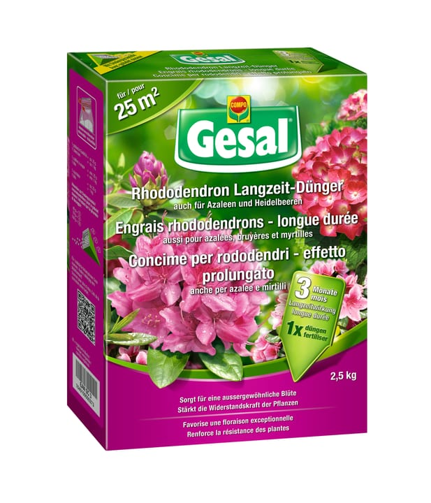 Concime per rododendri - effetto prolungato, 2,5 kg Compo Gesal 658232400000 N. figura 1