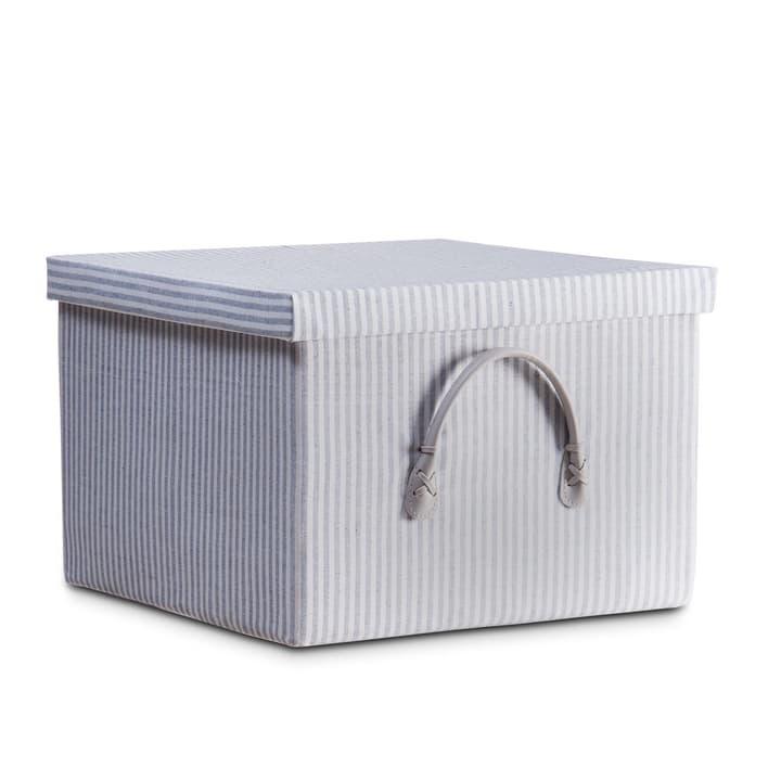 SAM Box 386091100000 Grösse B: 35.0 cm x T: 35.0 cm x H: 24.0 cm Farbe Grau gestreift Bild Nr. 1