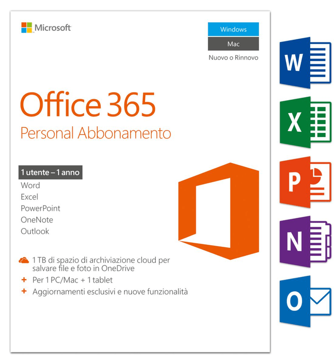 Office 365 Personal 2016 PC/Mac (I) Physique (Box) Microsoft 785300121048 Photo no. 1