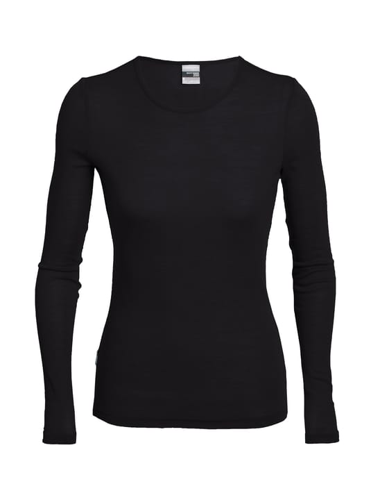 Crewe Maglia a maniche lunghe da donna Icebreaker 477030900220 Colore nero Taglie XS N. figura 1
