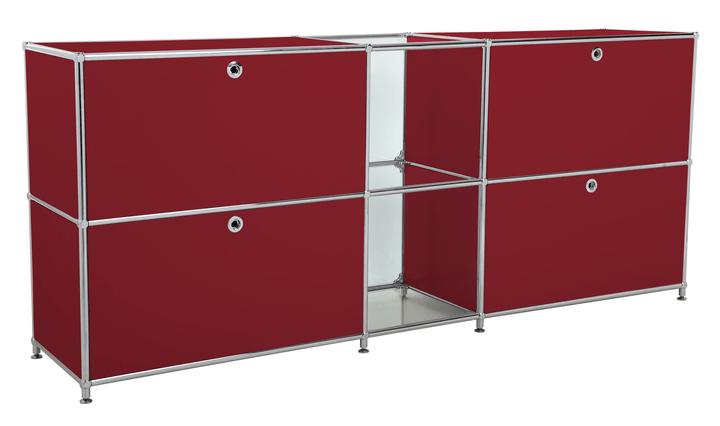 FLEXCUBE Buffet 401814320230 Dimensioni L: 189.0 cm x P: 40.0 cm x A: 80.5 cm Colore Rosso N. figura 1