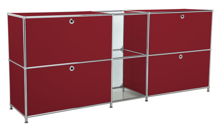 FLEXCUBE Sideboard 401814320230 Grösse B: 189.0 cm x T: 40.0 cm x H: 80.5 cm Farbe Rot Bild Nr. 1