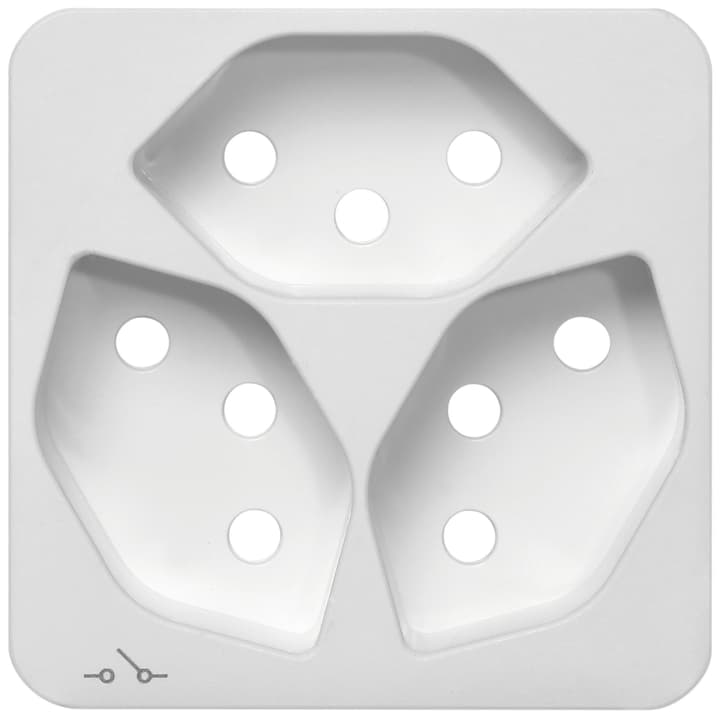 Mica for you cuvette frontale 3xT13 blanc séparée sans cadre Contenitore frontale Mica for you 612241900000 Photo no. 1