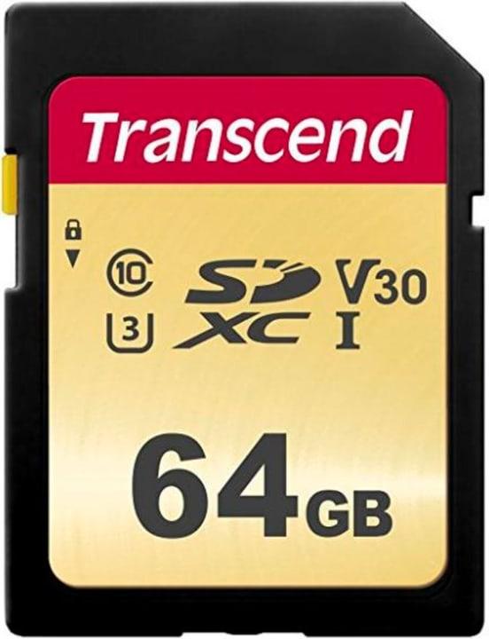 SD Card 500S, MLC 64GB SDXC Cartes mémoire SD Transcend 785300147293 Photo no. 1