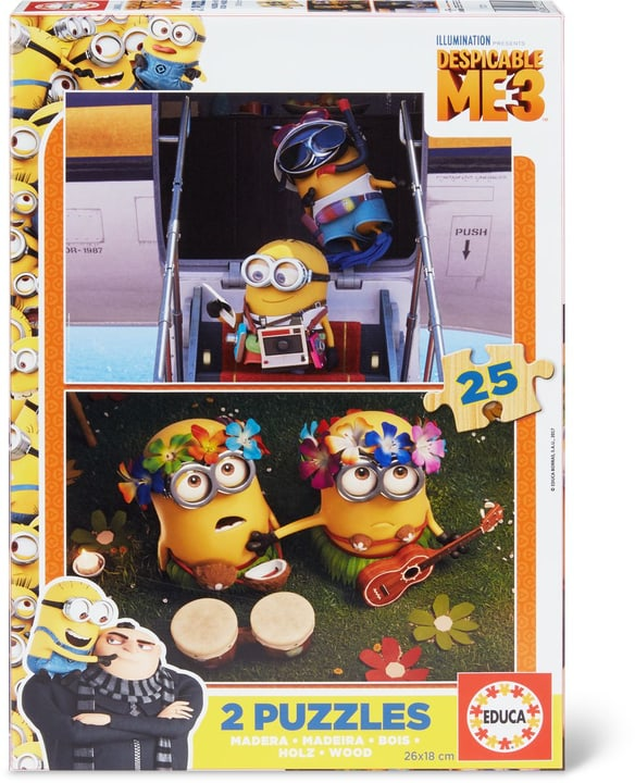 Minions Super Puzzle 2x25 TLG 747436400000 Photo no. 1