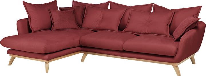 AMSEL Canapé d'angle 405735150130 Couleur Rouge Dimensions L: 275.0 cm x P: 180.0 cm x H: 67.0 cm Photo no. 1