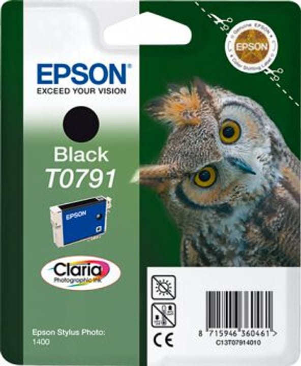 T079140 Schwarz Tintenpatrone Epson 797583700000 Bild Nr. 1