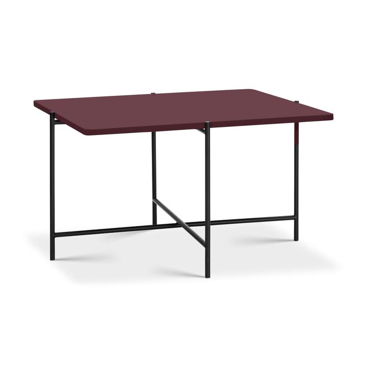 ELLY Table basse 362255500000 Dimensions L: 60.0 cm x P: 60.0 cm x H: 40.0 cm Couleur Rouge framboise Photo no. 1