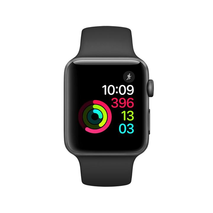 Watch Series 2, 42mm Boîtier en aluminium noir sidéral avec Bracelet Sport noir Apple 798149800000 Photo no. 1