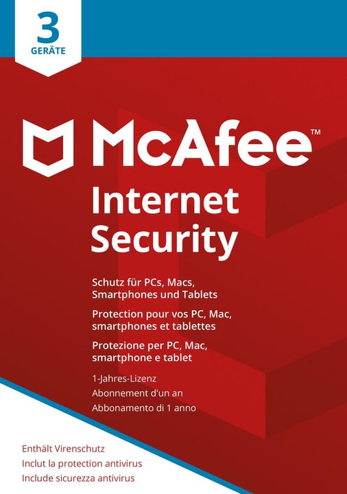 Internet Security 2018 3 Devices Mc Afee 785300131277