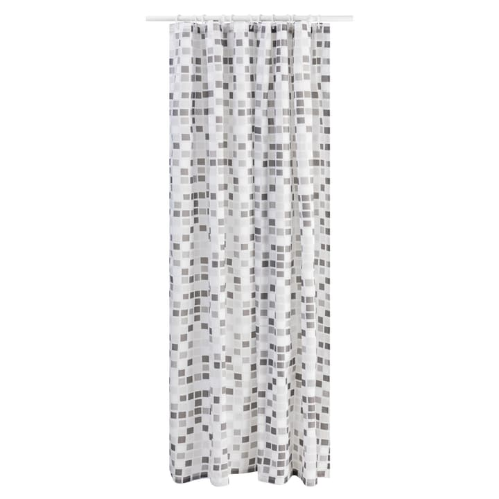 MOSAIK Rideau douche 374145720080 Dimensions L: 180.0 cm x H: 200.0 cm Couleur Gris Photo no. 1
