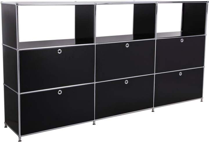 FLEXCUBE Buffet haut 401814930320 Dimensions L: 227.0 cm x P: 40.0 cm x H: 118.0 cm Couleur Noir Photo no. 1
