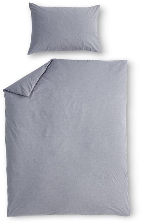 AMBROSIO Jersey Bettwäschegarnitur 451276014482 Farbe Grau Grösse B: 160.0 cm x H: 210.0 cm Bild Nr. 1
