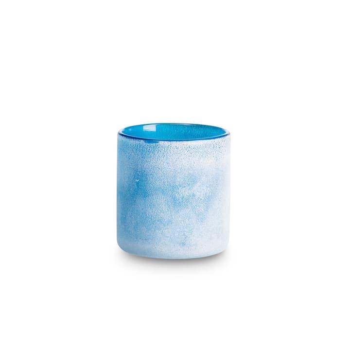 FROSTED Teelichthalter 396064600000 Grösse B: 8.0 cm x T: 8.0 cm x H: 9.0 cm Farbe Dunkelblau Bild Nr. 1
