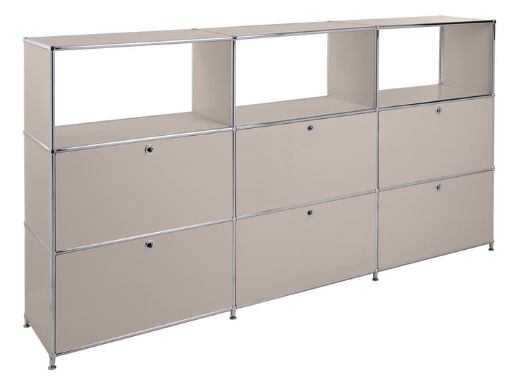 FLEXCUBE Buffet haut 401814930388 Dimensions L: 227.0 cm x P: 40.0 cm x H: 118.0 cm Couleur Gris taupe Photo no. 1