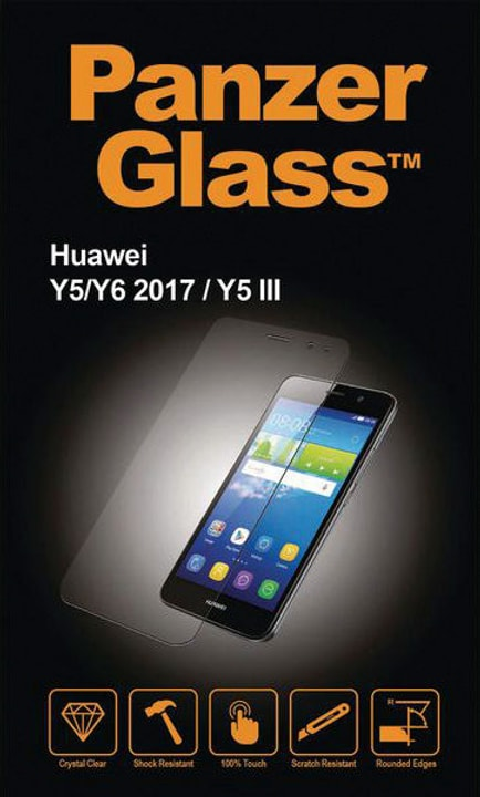 Flat Black Huawei Y6 (2017) Schutzfolie Panzerglass 785300134519 Bild Nr. 1