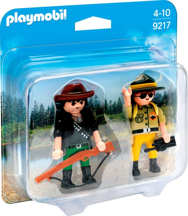 Playmobil Duo Packs Ranger e Bracconiere 9217 746077500000