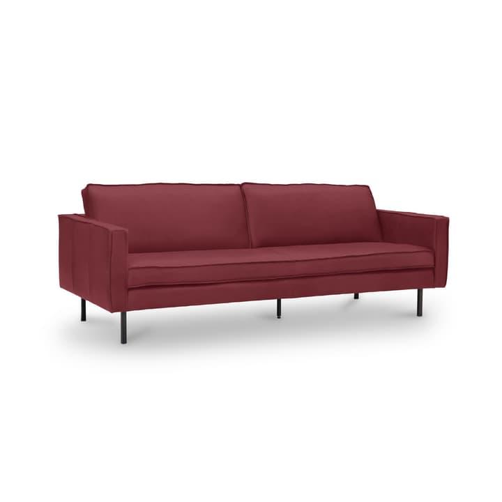 TEXADA divano in pelle da 3.5 posti 360020228606 Dimensioni L: 211.0 cm x P: 95.0 cm x A: 61.0 cm Colore Rosso N. figura 1