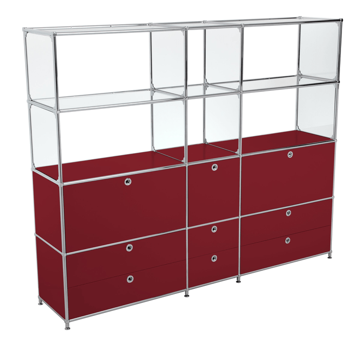 FLEXCUBE Etagère 401815320430 Dimensions L: 189.0 cm x P: 40.0 cm x H: 155.5 cm Couleur Rouge Photo no. 1