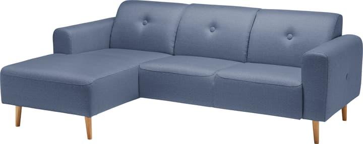 MENDEL Divano ad angolo 405730070140 Colore Blu Dimensioni L: 225.0 cm x P: 144.0 cm x A: 78.0 cm N. figura 1