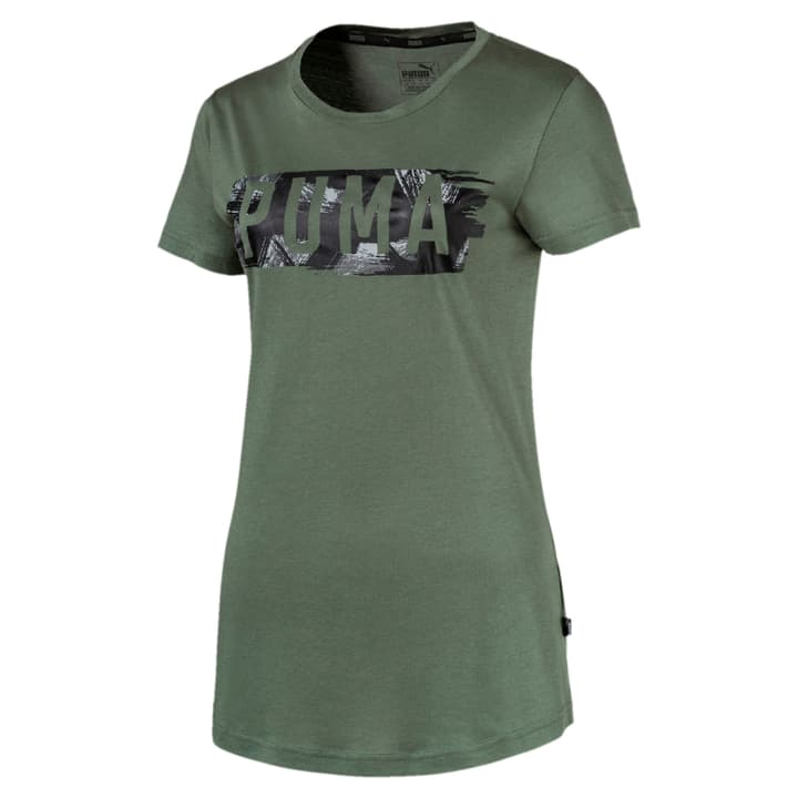 Fusion Graphic Tee Maglietta da donna Puma 462395000663 Colore verde scuro Taglie XL N. figura 1