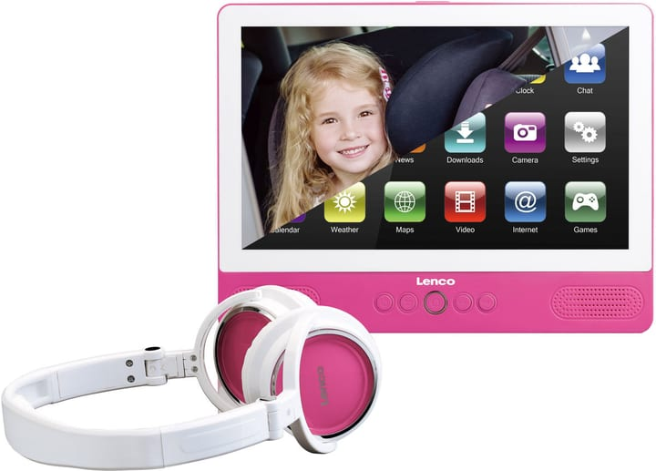 TDV-900p Portabler DVD Player pink Lenco 771140800000 N. figura 1