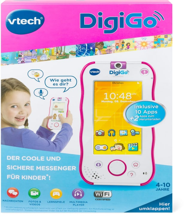 Messenger in stylischem Smartphone - Design (pink) V-Tech 74611019000215 Bild Nr. 1