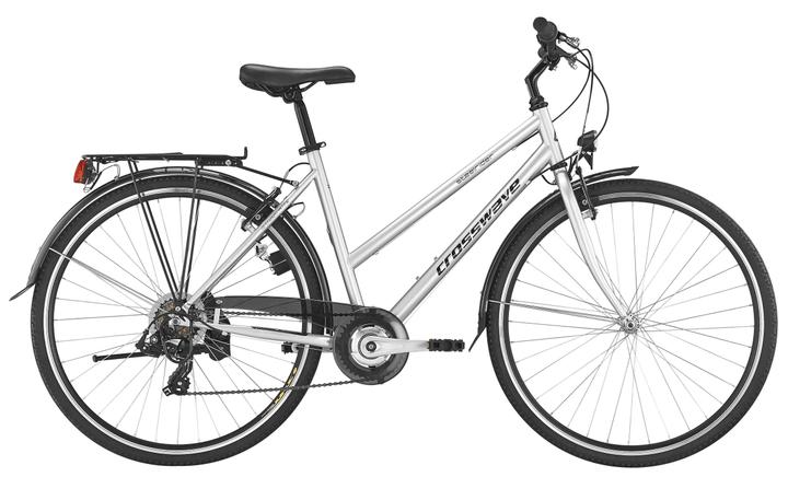 """Steelrider Lady 28"""" Vélo de ville Crosswave 490178604587 Couleur argent Tailles du cadre 45 Photo no. 1"""