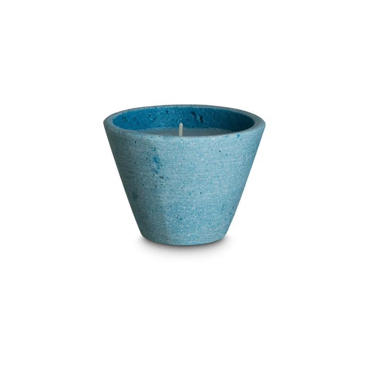 ANJA Kerze 390122100000 Grösse B: 7.5 cm x T: 7.5 cm x H: 5.5 cm Farbe Blau Bild Nr. 1