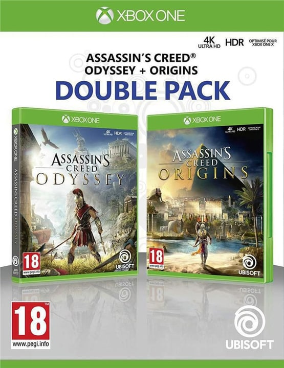 Xbox One - Assassin's Creed Odyssey + Assassin's Creed Origins - Double Pack Box 785300146503 Photo no. 1