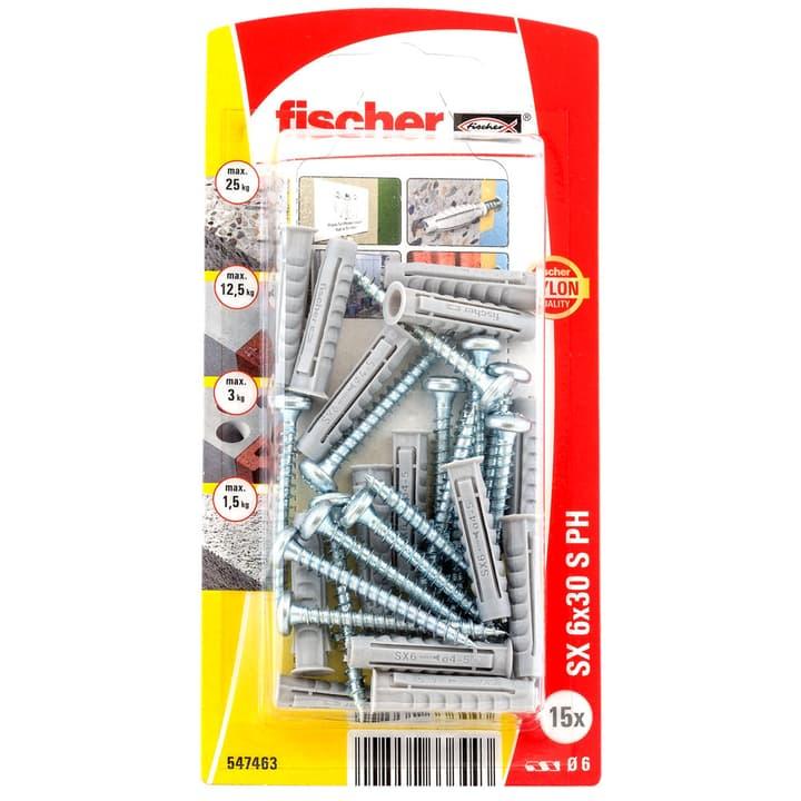 Tampon nylon SX 6 x 30 avec vis fischer 605445800000 Photo no. 1
