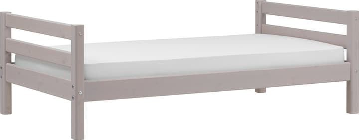 CLASSIC Lit simple Flexa 404993300000 Dimensions L: 100.0 cm x P: 210.0 cm x H: 67.0 cm Couleur Gris Photo no. 1