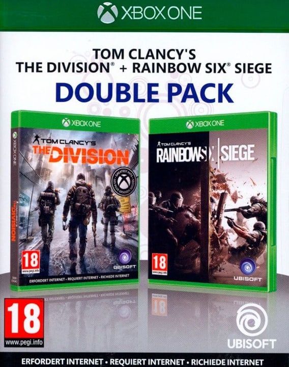 Xbox One - Rainbow Six Siege & The Division - Double Pack Box 785300130413 N. figura 1