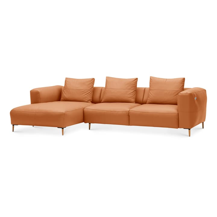 LOUIE Canapé d'angle 360512773655 Dimensions L: 299.0 cm x P: 170.0 cm x H: 69.0 cm Couleur Cognac Photo no. 1