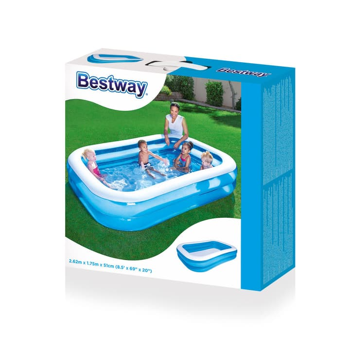 "Piscine de jeu ""Blue Rectangular Family Pool"" Bestway 745840200000 Photo no. 1"