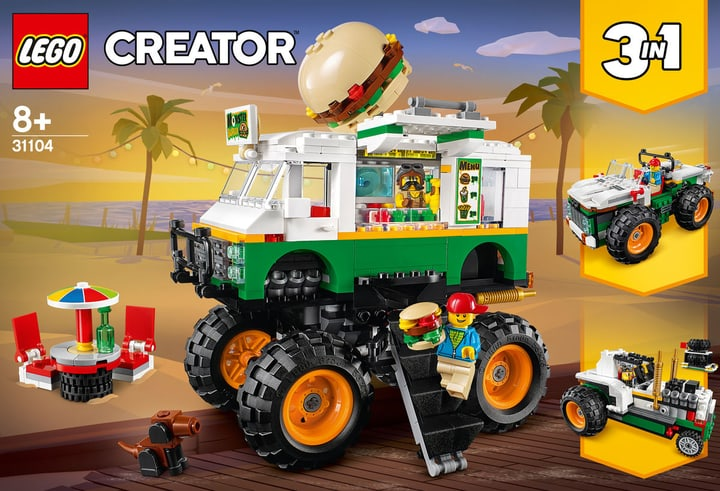 LEGO Creator 31104 Burger-Monster-Truck LEGO Creator 31104 Monster Truck deg 748733500000 Photo no. 1
