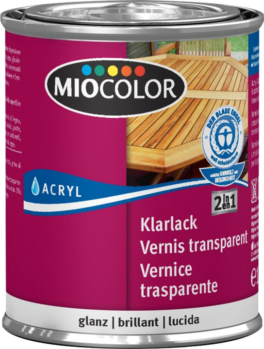 Laque acrylique transparente brillante Miocolor 660561100000 Couleur Incolore Contenu 125.0 ml Photo no. 1