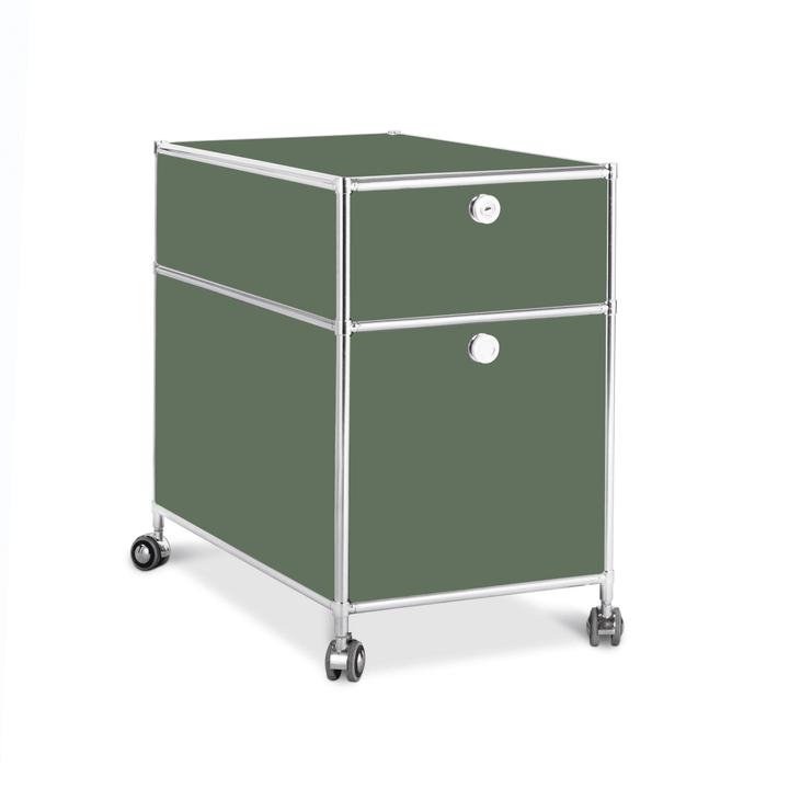 QUADRO Cassettiera 364241300062 Dimensioni L: 42.0 cm x P: 77.0 cm x A: 67.5 cm Colore Verde scuro N. figura 1