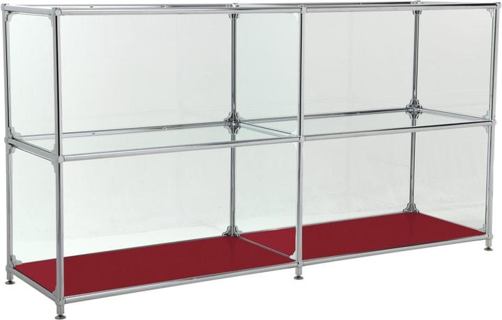 FLEXCUBE Sideboard 401814220230 Grösse B: 152.0 cm x T: 40.0 cm x H: 80.5 cm Farbe Rot Bild Nr. 1