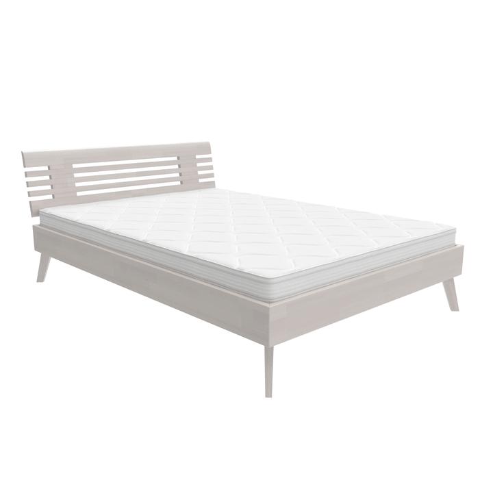 WOODLINE Bett HASENA 403550300000 Farbe Weiss Grösse B: 140.0 cm x T: 200.0 cm Bild Nr. 1