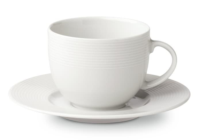 VIENNA Kaffeetasse mit Unterteller Cucina & Tavola 700153700001 Farbe Weiss Grösse B: 14.7 cm x H: 7.0 cm Bild Nr. 1