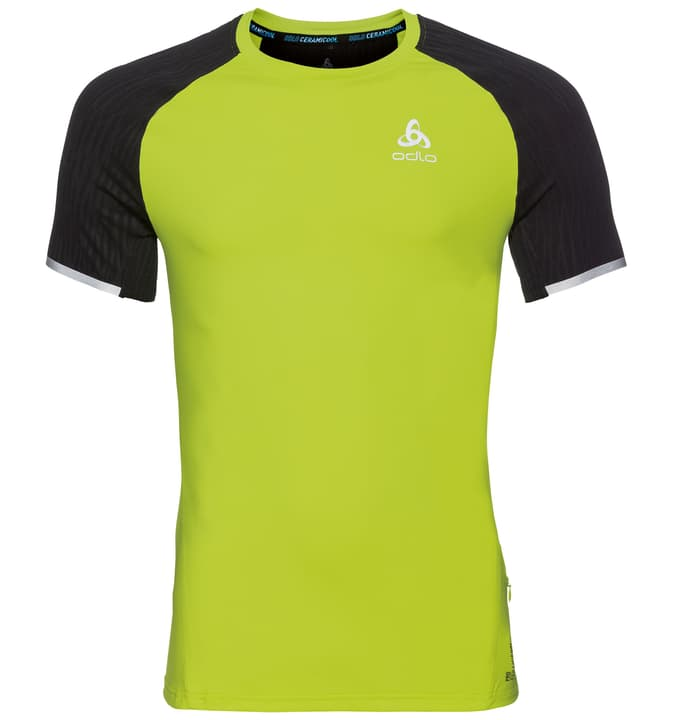 ZEROWEIGHT Ceramicool BL TOP Crew neck s/s Shirt pour homme Odlo 470157200666 Couleur lime Taille XL Photo no. 1