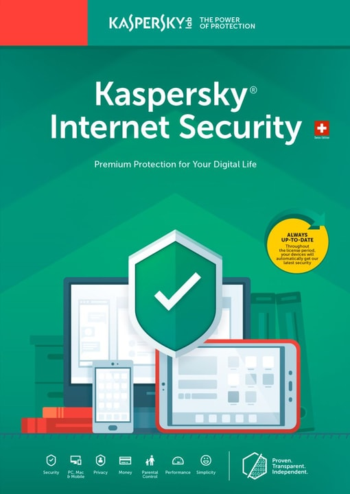 Internet Security (1 Device) Upgrade [PC/Mac/Android] (D/F/I) Physique (Box) Kaspersky 785300137704 Photo no. 1