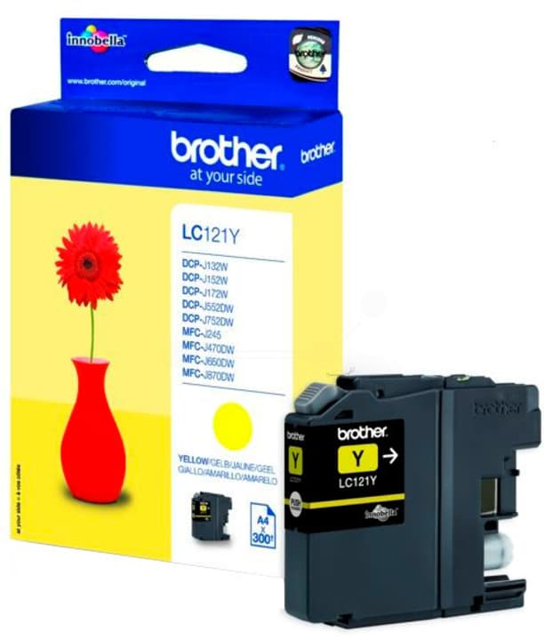 cartouche d'encre LC-121Y yellow Cartouche d'encre Brother 795822500000 Photo no. 1