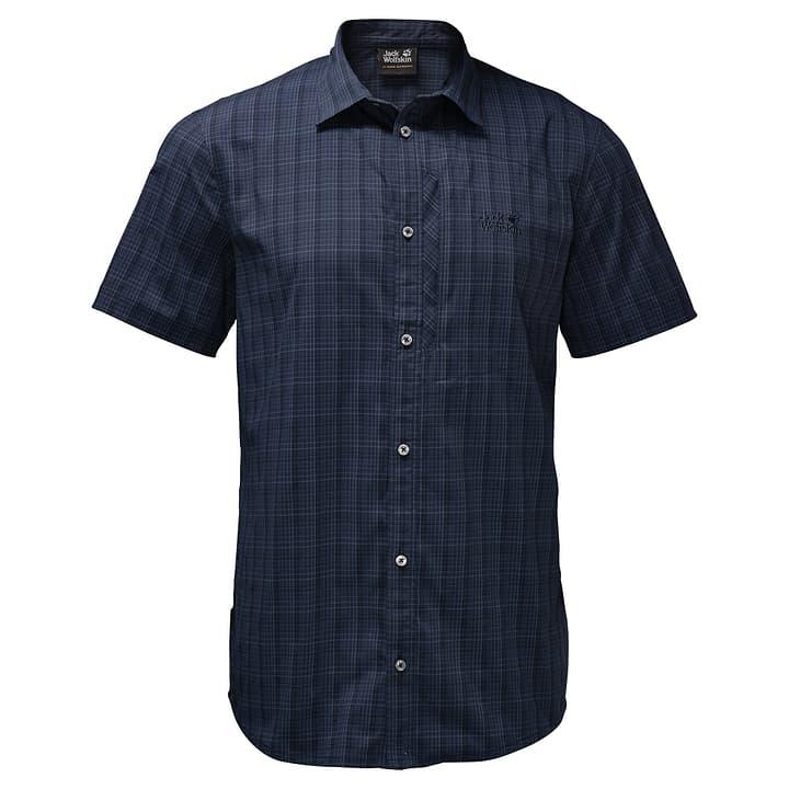 RAYS STRETCH VENT SHIRT MEN Camicia a manica corta da uomo Jack Wolfskin 462734200543 Colore blu marino Taglie L N. figura 1