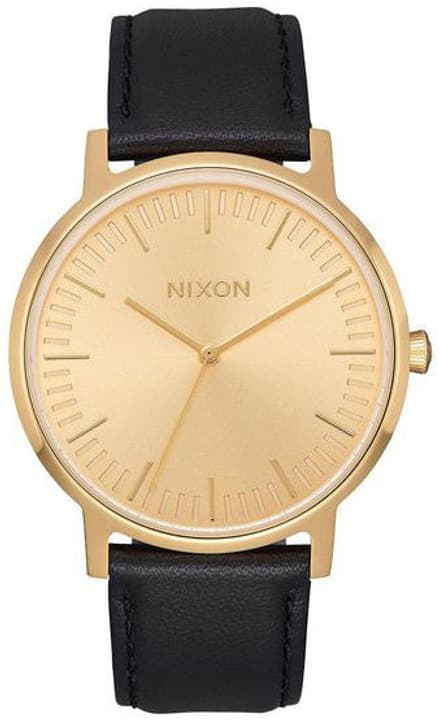 Porter Leather All Gold Black 40 mm Orologio da polso Nixon 785300136982 N. figura 1