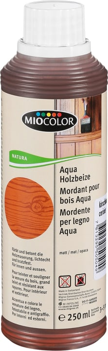 Aqua Holzbeize Kirschbaum 250 ml Miocolor 661286000000 Farbe Kirschbaum Inhalt 250.0 ml Bild Nr. 1