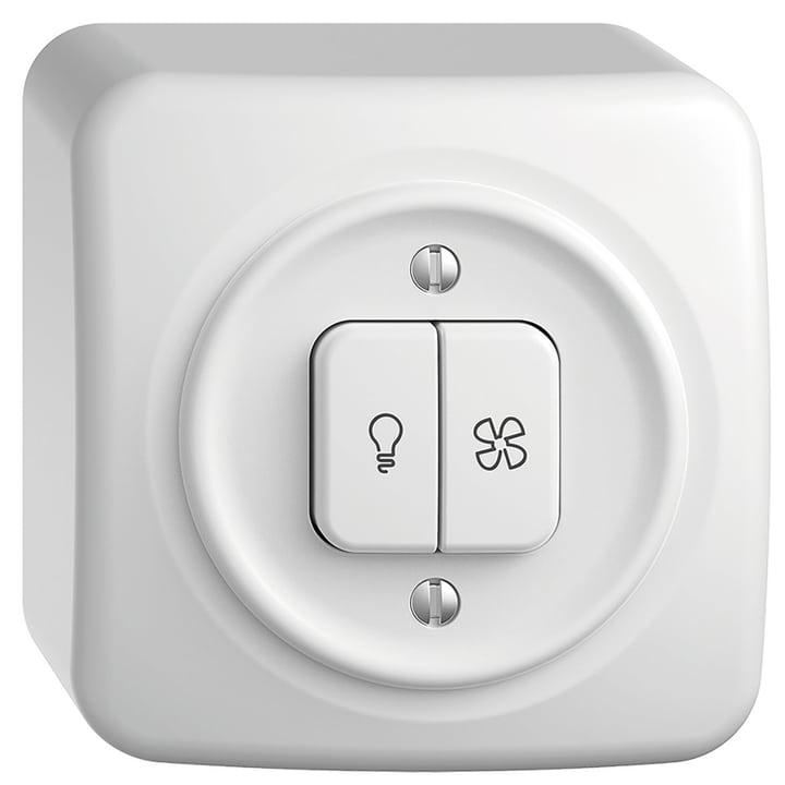 STANDARDdue AP interrupteur lumière/ventilateur Feller 612233200000 Photo no. 1