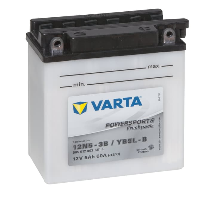 12N5-3B / YB5L-B 5Ah Batteria del motociclo Varta 620453400000 N. figura 1